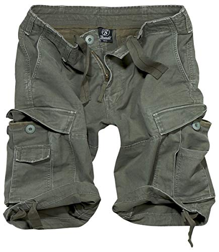Männer Casual Shorts Herren Bekleidung (Brandit Vintage Shorts Short Oliv 7XL)