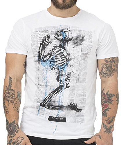 Religion Clothing Herren T-Shirt Shirt Newspaper Weiß