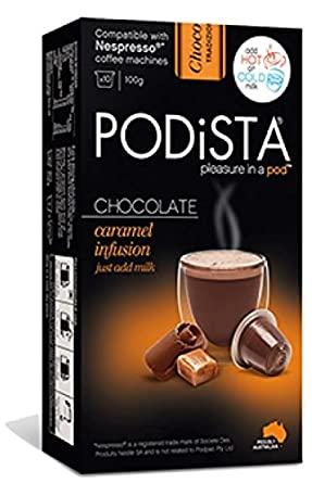 nespresso compatible hot chocolate pods 4 pack 40 pods caramel