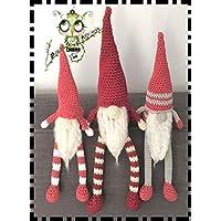 DUENDE NOEL, ELFO , PAPA NOEL AMIGURUMI NAVIDAD PERSONALIZABLE (Bebé, crochet, ganchillo