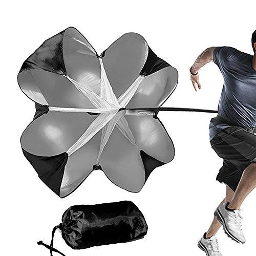 Walmeck- Fußball Widerstand Fallschirm Laufendes Sprintfallschirm Geschwindigkeitstraining Widerstand Fallschirm Fußball Sport Kraft Geschwindigkeit Training Regenschirm