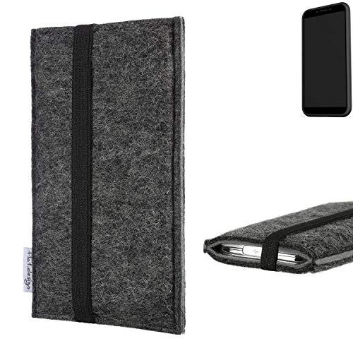 flat.design Handyhülle Lagoa für Shift Shift6mq   Farbe: anthrazit/grau   Smartphone-Tasche aus Filz   Handy Schutzhülle  Handytasche Made in Germany