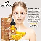 Art Naturals Verbessertes Vitamin C Serum mit Hyaluron Säure 29 ml, Top Anti-Falten Pflege | Anti-Aging | Wirkt gegen dunkle Augenringe, Altersflecken & Schäden durch Sonneneinstrahlung | 20% Vitamin C Konzentration | Organische Wirkstoffe | Für jeden Hauttyp geeignet, besonders wirksam bei reiferer Haut - 5