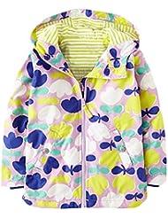 Amurleopard Blouson veste manteau fille ¨¤ capuche floral imperm¨¦able