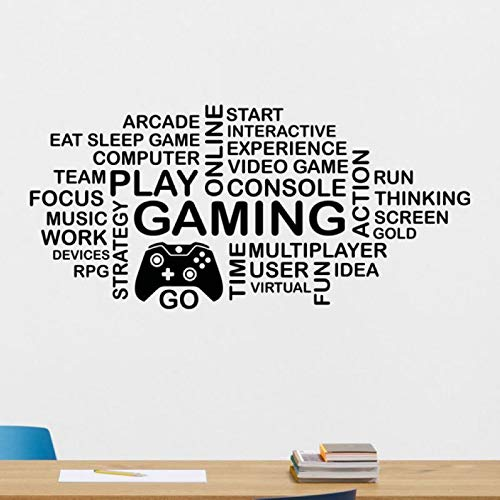 Ajcwhml Game Handle Sticker Play Gamer Decal Gaming