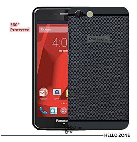 Hello Zone Exclusive Dotted Design Soft Back Case Cover Back Cover For Panasonic P55 nova-Black