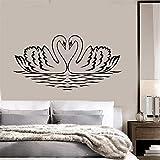 Citations stickers muraux Amovible Vinyle Art Decal Cygnes Oiseaux Amour Romance Chambre