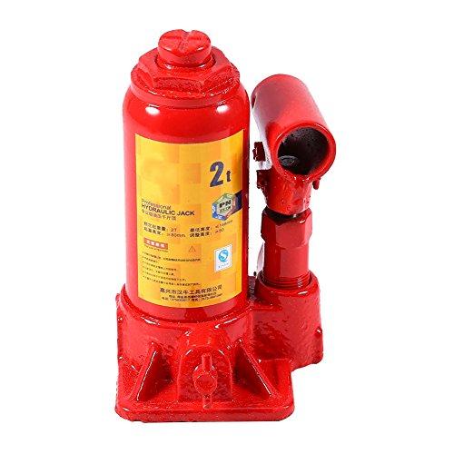SOULONG Red 2T Heber, Sollevatore Idraulico Verticale, cric Portatile in Acciaio Stabile, cric per Auto Van Boot Camion
