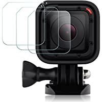 Films de Protection d'Ecran pour GoPro Hero4 Hero5 Session, AFUNTA Waterproof Protecteur de GoPro Hero 4 5 Session en Verre Trempé Optique (Pack 3)