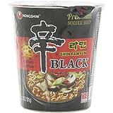 Nong Shim Instant de Cup de pasta Shin ramyun, Black, 6pack (6x 100g)