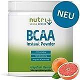 BCAA GRAPEFRUIT PULVER | Aminosäuren Complex hochdosiert | BCAAs Instant Powder vegan 300 g | Aminosäure-Pulver | 2:1:1 L-Leucin L-Isoleucin L-Valin | hergestellt in Deutschland