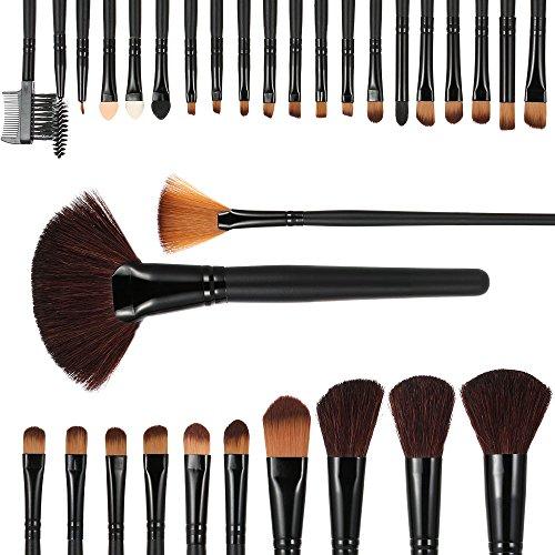 Anself - 32 unidades cepillos para maquillaje cosmético,con bolsa en piel...