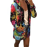 Chaqueta de Cremallera Outwear Tops Sueltos JiaMeng Abrigo teñido Escudo Abrigo Sudadera con Capucha Chaqueta Abrigo