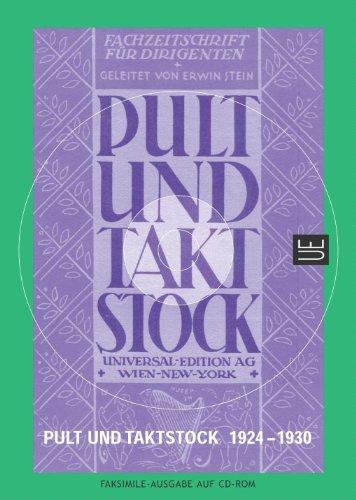 Pult und Taktstock CD-Rom: Die Fachzeitschrift für Dirigenten - erschienen 1924-1930