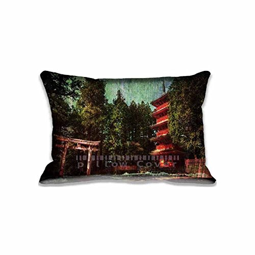 Latest Design Japan Wood House Pillow Cover Case Decorative Home Zippered Pillow Case 20x30 Inches Two - Cover Japan Phone