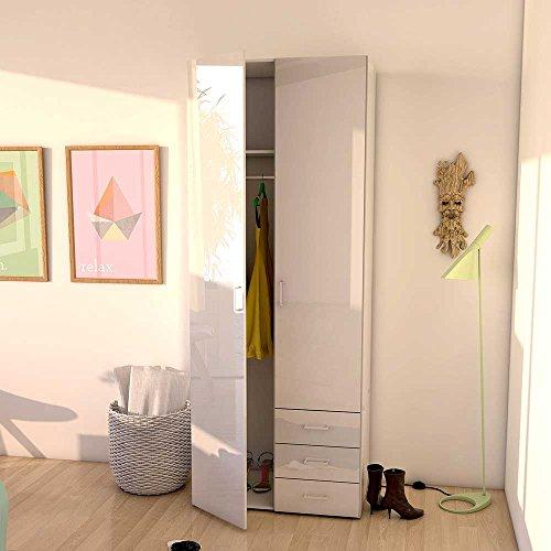 Schlafzimmerschrank Weiss Hochglanz Kau gebraucht kaufen! Nur 2 St ...
