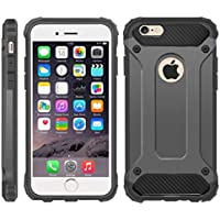 iPhone 6 Case, iPhone 6S Cover, [Survivor] Military-Duty Case - Shockproof Impact Resistant Hybrid Heavy Duty [armor case] Dual Layer Armor Hard Plastic And Bumper Protective Cover Case for Apple iPhone 6 / 6S [SHOCKPROOF] Cover, (DARK GRAY)