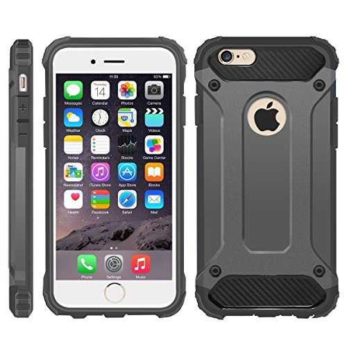 8094b0da9d4 iPhone 6 Case, iPhone 6S Cover, Military-Duty Case - Impact Resistant Hybrid