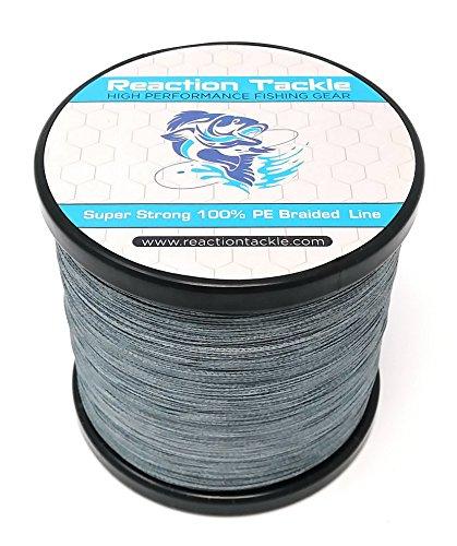 Reacción Tackle Sedal de pesca trenzado de alto rendimiento (varios colores), Gris oscuro