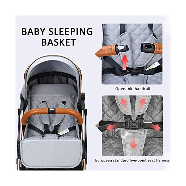 SONARIN Lightweight Stroller,Compact Travel Buggy,One Hand Foldable,Five-Point Harness,Great for Airplane(Dark Blue) SONARIN Size:Suitable from birth up to 15kg, length:66CM, width:48cm, height:98cm.Folding up:60CM*48CM*26CM. Great for Airplane,can be placed in any car boot. Safe:With sturdy aluminum alloy, compact body and five-point seat harness,each stroller has been pressure tested to provide security for each baby. Quality and Design:The backrest of the stroller supports sitting, half lying, lying,all three angles,lengthened and widened sleeping basket. Four wheel independent shock absorbing and built-in bearings make it smoother and quieter. 5
