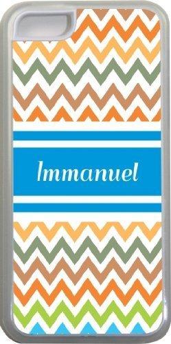 Emmanuel Chevron Bleu Nom Design Iphone 5C Coque (Transparent) avec protection pare-chocs en caoutchouc pour Apple iPhone 5C Étui vendre sur zeng