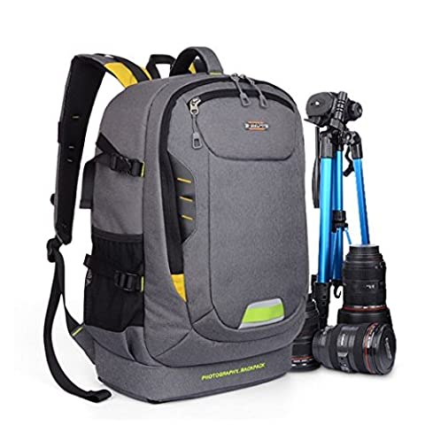 Sac à Dos Appareil Photo, Beaspire Sac à Dos Sacoche anti-choc Imperméable pour caméra reflex numérique SLR (Orange)