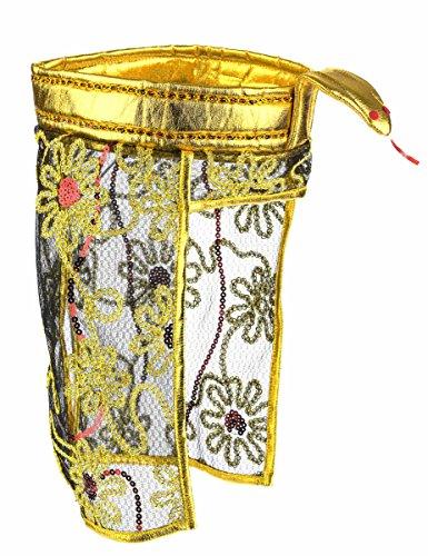 cher Kopfschmuck Gold-Schwarz (Ägyptischer Kopfschmuck Kostüm)