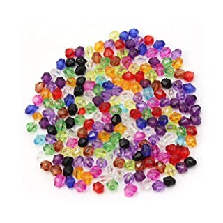 200x 4mm Variety Of Colors Mixed Glass Crystal Bicone Bead Spacer Crafts In Bulk