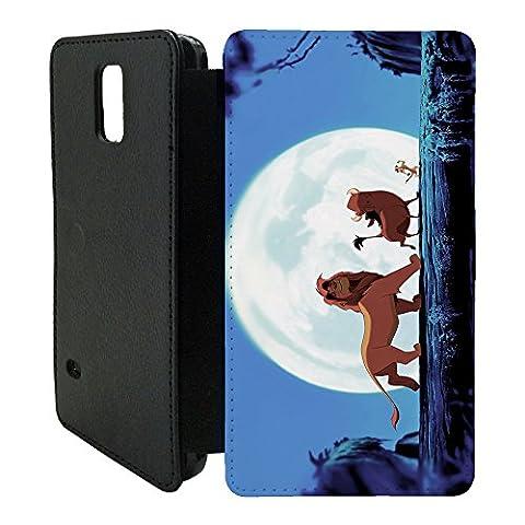 The Little Mermaid & König der Löwen Flip Schutzhülle für Samsung Galaxy S5Mini G800F–tf1139–Simba Abenteuer Timon Pumbaa