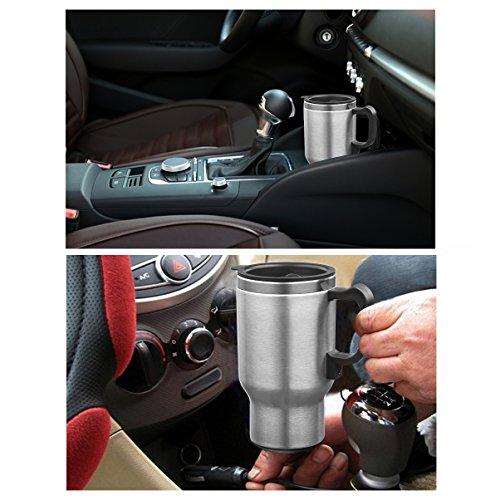 FLYCONN Car Heating Cup AUTO 12V 400ML Coffee Maker Tea Pot Kettle...