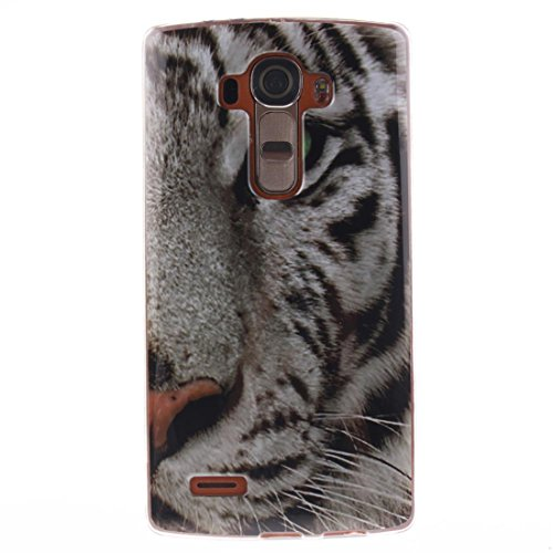 iPhone 7 Plus Custodia, Cover iPhone 7 Plus Copertura Cartoon 3D gatto Stripe gomma di silicone TPU Shell iPhone 7 Plus Case (5.5) e ring supporto bianca COLOR-2