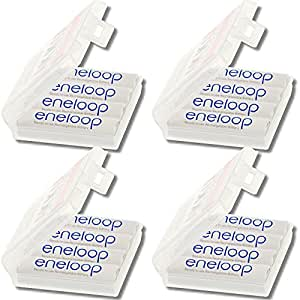 Sanyo eneloop XX Set of 16 x AA Mignon HR - 3UTGA new version Charger 1500 times up to 4 Storage Boxes White (German Import)