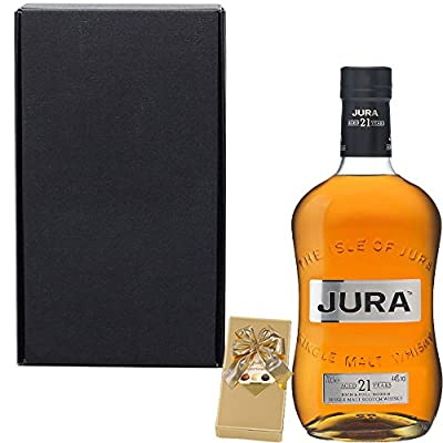 The Isle of Jura 21 Year Old Single Malt Scotch Whisky Fathers Day Gift Set With Handcrafted Gifts2Drink Tag