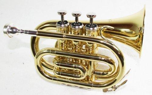 Cherrystone Trompette de Poche SiB avec Etui rigide