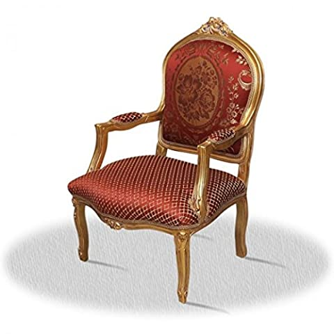 Chaise baroque Louis XV rocaille style antique AlCh0021AGoRd