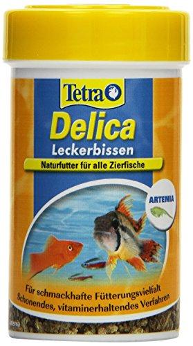 TetraDelica Brine Shrimps (Naturfutter für alle Zierfische, enthält zu 100% gefriergetrocknete Salinenkrebse), 100 ml Dose