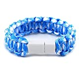 Micro USB Kabel Armband, Paracord Survival Armband für Jungen und Mädchen, Micro USB Armband Weben Armband Ladegerät für Android Samsung, HTC, Huawei, Nokia, LG, Sony