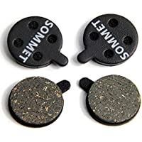 2 Pares SOMMET Pastillas Freno Disco Semi-metálico para ZOOM DB-280/350/450/550/650/Alongha SNG/Apse/Artek Apollo/Shockwave/X-Rated