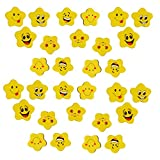 #5: Infinxt Smile star Shaped Erasers For Birthday Party Return Gift ( 12 Set 36 Eraser )