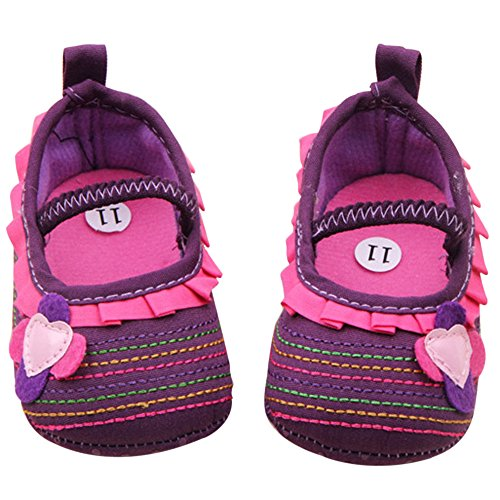 Sanwood , Baby Mädchen Lauflernschuhe rose 12cm violett