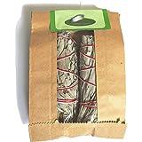Batonnets de Sauge blanche par Native Spirit -- batons / empaqueter / ballot / Encens WHITE SAGE 2 x small Smudge 4-4.5'' (10-12cm, ~30-35gr.) | Cet emballage est 100% biodégradable (5) (2)