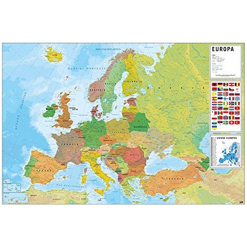 Grupo Erik Editores Poster Mapa Europa Italia Fisico