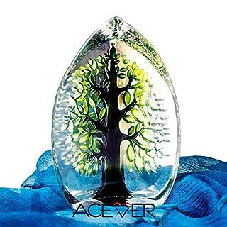 acever® 14; handgeritzt: 9,4schwedischen Kristall Skulptur, Happy Tree