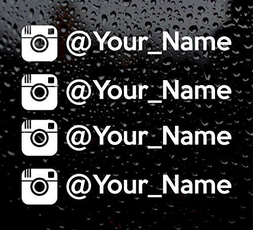 Preisvergleich Produktbild 10 x Instagram Name Car Sticker/Lot from 10pcs / Vinyl Decal/Car Decal/Instagram Logo Text