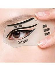NALATI 2pcs Carte de Eye-liner,Carte Eyeliner,Pochoirs Pour Perfect Eyes Cat eyeliner et Smokey Outil de maquillage