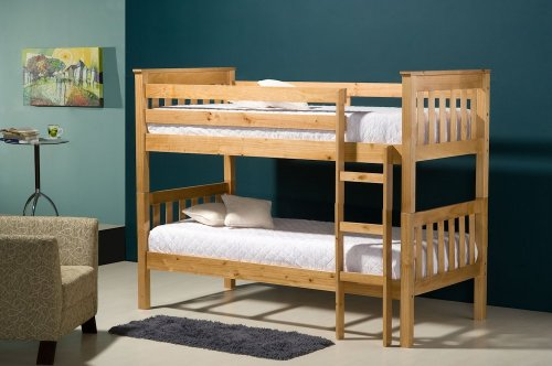 Birlea Seattle 3ft Single Wooden Bunk Bed, Pine