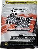 IronMaxx 1:1 IsoWhey Deluxe Erdbeere-Weiße Schokolade – Mehrkomponenten Proteinpulver aus Whey Isolat & Whey Konzentrat – 1 x 900 g