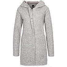 59522bd5e63443 Sublevel Damen Sweat Mantel mit Reißverschluss und Kapuze