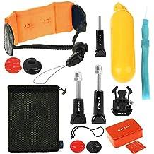 PULUZ 14en 1Surfing accesorios Combo Kit (Bobber mano Grip + Floaty Esponja + hebilla de liberación rápida + tablas de surf Mount + flotante correa de muñeca + seguridad Tethers correa + Bolsa de almacenamiento) para GoPro Hero5/4/3+/3/2/1