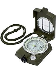 Proster Militär Marschkompass Professioneller Taschenkompass Peilkompass Kompass Compass mit Klinometer Tragschlaufe Tasche für Jagd Wandern und Aktivitäten im Freien